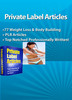 Thumbnail 77 Weight Loss & Body Building PLR Articles  PLR Articles