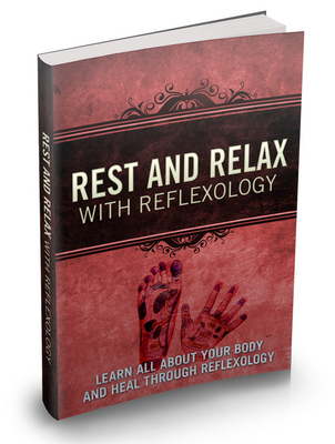 Product picture Rest and Relax With Reflexology mrr book