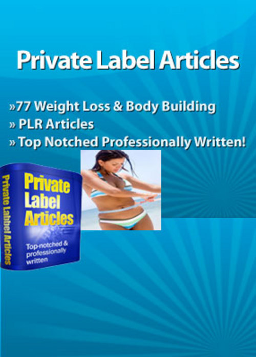 Product picture 77 Weight Loss & Body Building PLR Articles  PLR Articles